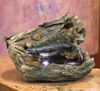 "22"" Wide Logs Tabletop Fountain w/LED Light"
