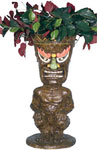 "24"" Tiki Statue Planter - Tribal Painted"