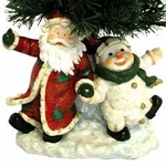 "25"" Fiber Optic Christmas Tree - Santa & Snowman"