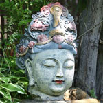 "25"" Lady Buddha Head"
