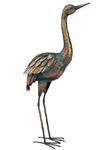 "27"" Patina Crane Bird - Upright"