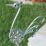"27"" Metal Filigree Bird - Pewter"