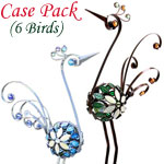 "28"" Mosaic Filigree Birds (Set of 6)"