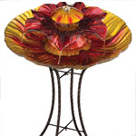 3-Tier Glass Fountain - Red/Amber