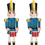 "30"" Blue Toy Soldiers w/Drum (Set of 2)"