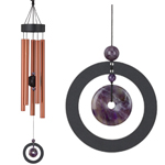 "32"" Healing Stone Wind Chime - Amethyst"