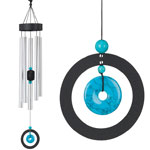 "32"" Healing Stone Wind Chime - Turquoise"