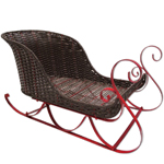 "32"" Poly Wicker & Metal Sleigh"
