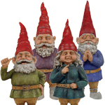 "32"" Toad Hollow Gnomes (Set of 4)"