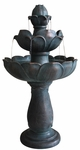 "33"" Budding Lotus Garden Fountain"