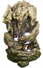 """38"""" Tropical Double Falls Fountain w/LED Lights"""