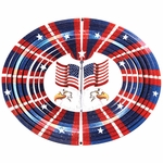 3D Eagle/Flag Wind Spinner