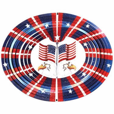 3D Eagle/Flag Wind Spinner - Click to enlarge