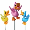 "4"" Funny Ducks Garden Stakes (Set of 6)"