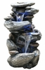 "40"" Classic Rock Waterfall Fountain w/LED Lights"