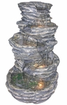 "40"" Gray Rock Cascades Outdoor Fountain"
