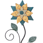 "42"" Rustic Flower Stake - Blue"