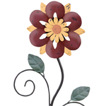 "42"" Rustic Flower Stake - Red"