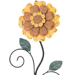 "42"" Rustic Flower Stake - Yellow"