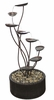 "45"" Metal Spiral Leaf Outdoor Fountain"