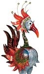 "46"" Bali Garden Bird: ""Mr. Hugo"""