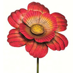 "46"" Gorgeous Flower Stake - Red"