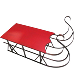 "48"" Wood & Metal Sleigh"