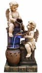 "49"" Twin Cherubs w/Urns Outdoor Fountain"