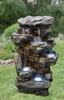 """51"""" Rocky Waterfalls Outdoor Fountain w/LED Lights"""