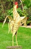"52"" Large Metal Rooster - Antique Yellow"