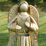 "67"" Golden Angel - Harp"