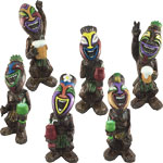 "7.5"" Tiki Statues (Set of 6)"