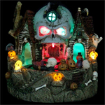 "7"" LED Animated Halloween Skull House"