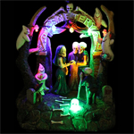 "7"" LED Animated Halloween Wedding Scene"