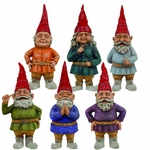"8.5"" Toad Hollow Gnomes (Set of 6)"