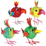 "8"" Jungle Bird Bobblers (Set of 4)"
