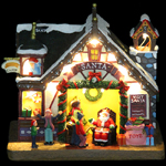 "8"" LED Animated Santa House"