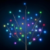 AC Powered LED Bush w/Leaves - Color Changing