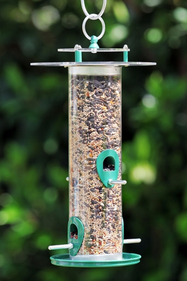 Acrylic Bird Feeder - Click to enlarge