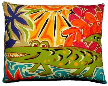 Alligator Outdoor Pillow - Click to enlarge