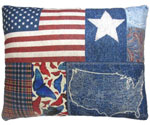 American Denim Outdoor Pillow