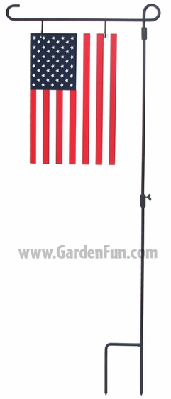 American Flag Metal Garden Stake - Click to enlarge