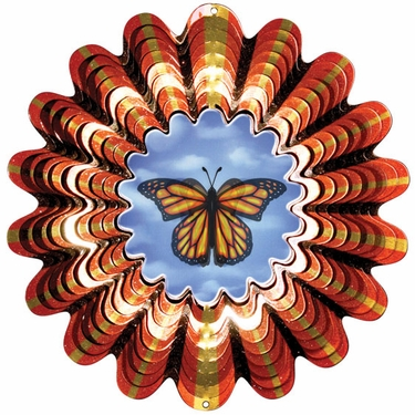 Animated Butterfly Wind Spinner - Click to enlarge