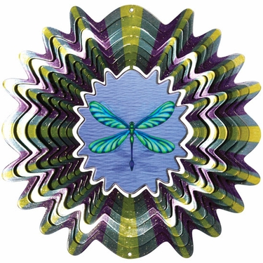Animated Dragonfly Wind Spinner - Click to enlarge