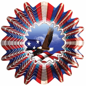 Animated Eagle Wind Spinner - Click to enlarge