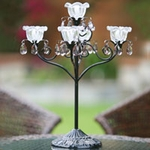 Anywhere 5 Flame Hannah Candelabra - Black