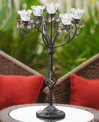 Anywhere 5 Flame Kami Candelabra - Black - Click to enlarge