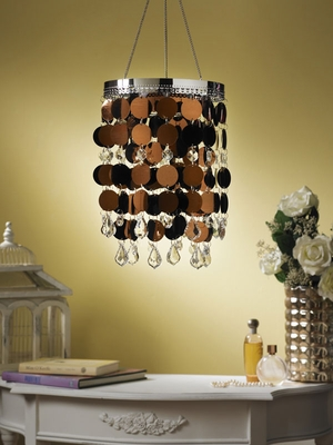 Anywhere Shimmer Chandelier - Bronze - Click to enlarge