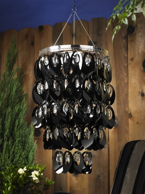 Anywhere Shimmer Chandelier - Large Ovals Black - Click to enlarge