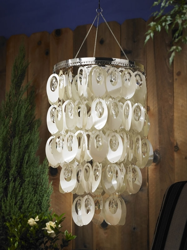 Anywhere Shimmer Chandelier - Large Ovals Pearl - Click to enlarge